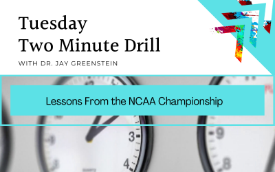 TMD: Lessons From the NCAA Championship